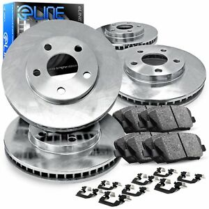 2012 2016 Ford Focus Full Kit Eline Plain Brake Disc Rotors Ceramic Brake Pads
