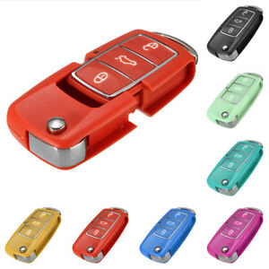 3 Buttons Remote Key Fob Case Red For Vw Volkswagen Bora Beetle Golf Polo Passat