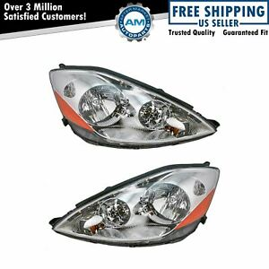 Front Headlamps Headlights Lights Left Right Pair Set For 06 10 Sienna Van