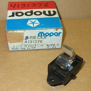 Mopar Power Window Switch 1974 1979 Plymouth Dodge Chrysler 4131376 Nos