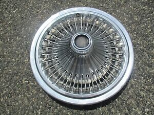 One Genuine 1975 To 1979 Chrysler Cordoba Charger Wire Spoke Hubcap Wheel Cover