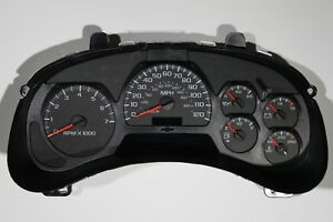 2005 05 Complete Replacement Trailblazer Gauge Dash Instrument Cluster With Dic