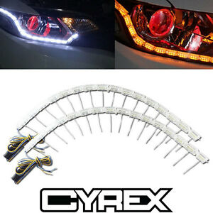 Sequential Led Lights Switchback Strip For Headlight Retrofit Signal Mods P1