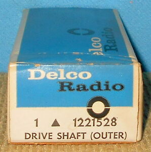 Nos Gm Delco 1221528 Radio Drive Shaft Outer Free Shipping 1221528