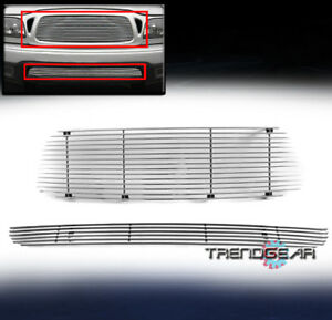 For 2001 2004 Toyota Tacoma Pickup Truck Upper bumper Billet Grille Grill Combo