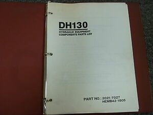 Daewoo Dh130 Hydraulic Crawler Mounted Excavator Parts Catalog Manual Book