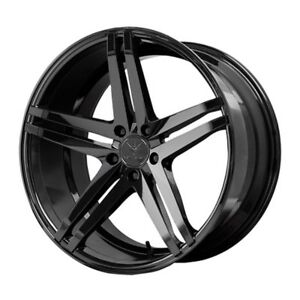 20x10 Verde Parallax 5x114 3 45 Black Rims Fits Honda Accord 2008 2012