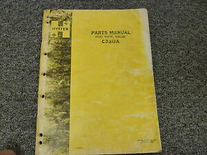 Hyster C350a Tandem Smooth Drum Roller Compactor Parts Catalog Manual Book