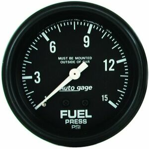 Autometer Fuel Pressure Gauge Gas New 2311