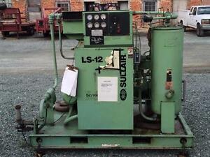 Sullair Ls 12 Compressor Ls12 50h Acac 50hp 3602hrs Industrial Air Used
