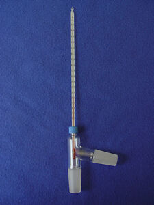 Threaded 3 way Distillation Adapter 200 C Thermometer Non hg