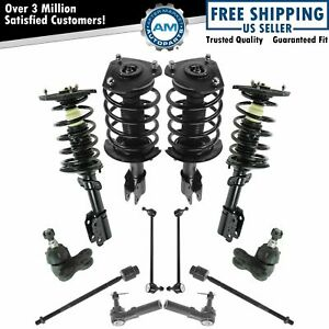 12 Piece Steering Suspension Tie Rods Ball Joints End Links Strut Assemblies