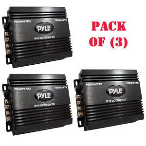 Pack Of 3 Pyle Pswnv720 24 12v Dc Power Step Down Converter 720w Pmw Technology