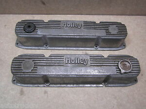 Holley Dodge Plymouth 361 383 440 Finned Aluminum Valve Covers Big Block Mopar