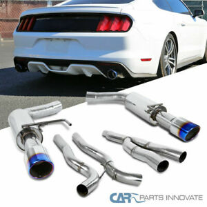 15 18 Ford Mustang 2 3l Ecoboost S S Catback Exhaust Muffler System Burnt Tip