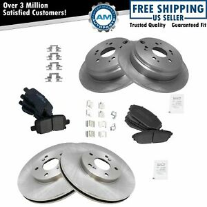 Nakamoto Front Rear Premium Metallic Brake Pad Rotor Kit For Honda Odyssey