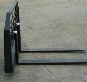 New Skid Steer Loader Tractor 48 Hd Pallet Forks Bobcat Case Cat 1 1 2 Thick