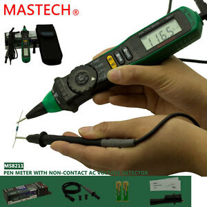 Mastech Ms8211 Digital Pen Auto Range Multimeter Voltage Tester Nvc Non contact