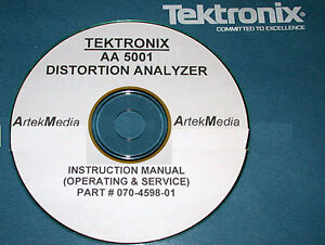 Tektronix Aa5001 Distortion Analyzer Instruction service Ops Manual