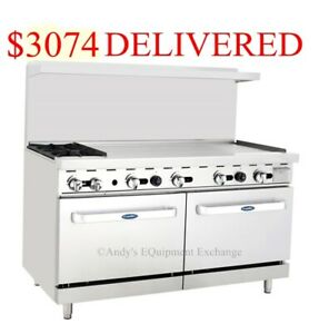60 Inch 5 Foot Gas Range 2 Burners With 48 Griddle On The Right