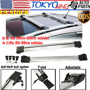 Universal Car Suv Roof Rack Cross Bar Carrier For Raised Side Rails Siderails