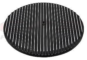 Aluminum 14 Round Air Cleaner Top Polished Finned Black