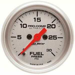 Autometer Fuel Pressure Gauge Gas New 4360