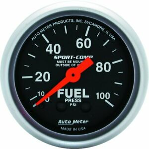 Autometer Fuel Pressure Gauge Gas New 3312
