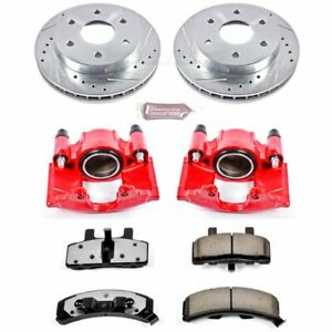 Powerstop 2 wheel Set Brake Disc And Caliper Kits Front For Chevy Kc1970 36