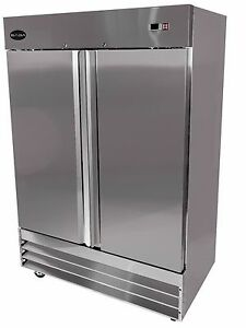 Saba Heavy Duty Commercial Reach in Refrigerator two Door Stainless Cooler