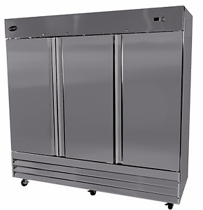 Saba Air 3 Three Door Reach in Refrigerator Cooler Bakery Restaurant St 72r