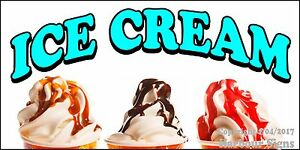 choose Your Size Ice Cream Sundaes Decal Food Truck Concession Restaurant