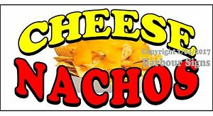 choose Your Size Cheese Nachos Decal Concession Food Truck Vinyl Sign Sticker