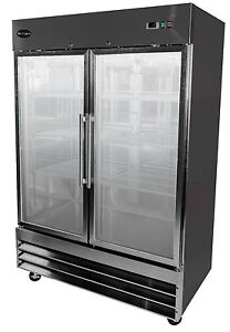 Saba Hd Commercial Reach in Refrigerator 2 Glass Door Display Merchandiser