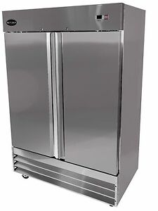 Saba Heavy Duty Commercial Reach In Freezer two Door Stainless Steel