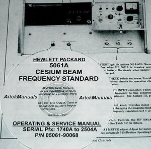 Hp Ops Service Manual For 5061a Cesium Beam Frequency Standard late Serials