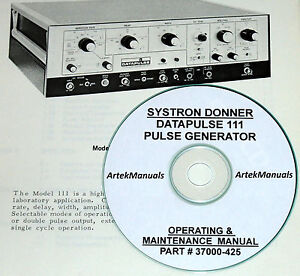 Systron donner Datapulse 111 Operating Service Manual