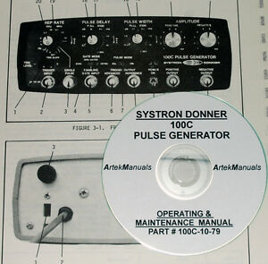 Systron donner Datapulse 100c Pulse Generator Operating Service Manual