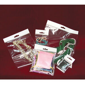 Clear Jewelry Bags Hanging Header Bags Clear Bags Poly Bag Opp Bags 100 500 1000