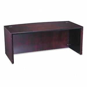 Mayline Corsica Series Bow front Office Desk Top Mahogany Mlncdt72mah