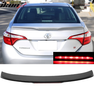 Fits 14 17 Toyota Corolla Oe Style Trunk Spoiler With 3rd Brake Light Led Abs