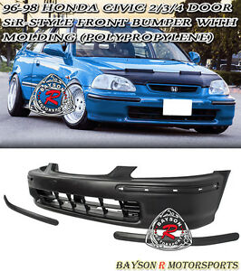 Sir Style Front Bumper Cover With Molding Fits 96 98 Honda Civic 2 3 4dr