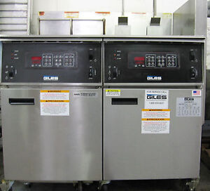 Giles High Volume Kettle Double Fryer 480 Volt Auto Lift With New Boil Out Caddy