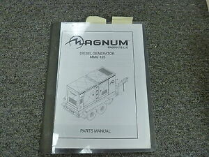 Magnum Model Mmg125 Portable Diesel Generator Parts Catalog Manual Book