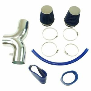 Performance Dual Snorkel Short Ram 3 5 Intake Kit Blue Filter For Corvette 5 7