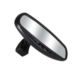 10 Auto Dimming Rearview Mirror W Wedge Base Compass Temp
