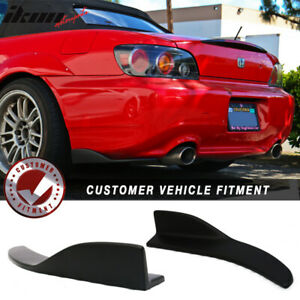 Universal Fit V7 Front Rear Bumper Lip Winglets Side Skirt Extensions 2pc