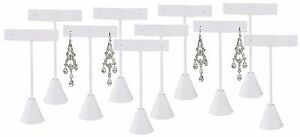 Lot Of 12 White Earring Display White Stand Earring Tree Earring Stand 5 3 4 h