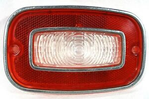 Original 1971 71 Chevrolet Chevy Vega Auto Car Back Up Tail Light Lens W Trim