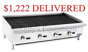 Brand New 4 Foot Wide 48 Inch Counter Top Char Rock Broiler Grill 140 000 Btu s